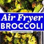 Air Fryer Broccoli Image Pin 1