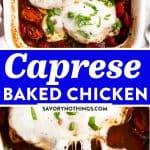 Baked Caprese Chicken Pin 1