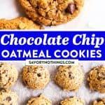 Chocolate Chip Oatmeal Cookies Pin 1