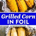 Grilled Corn on the Cob in Foil Pin 1