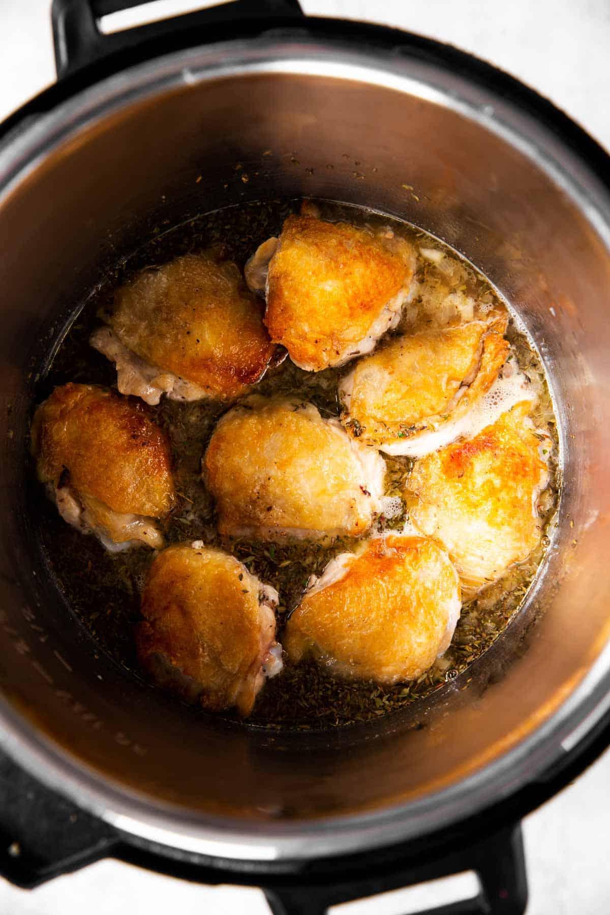 instant pot lemon chicken before pressure cooking
