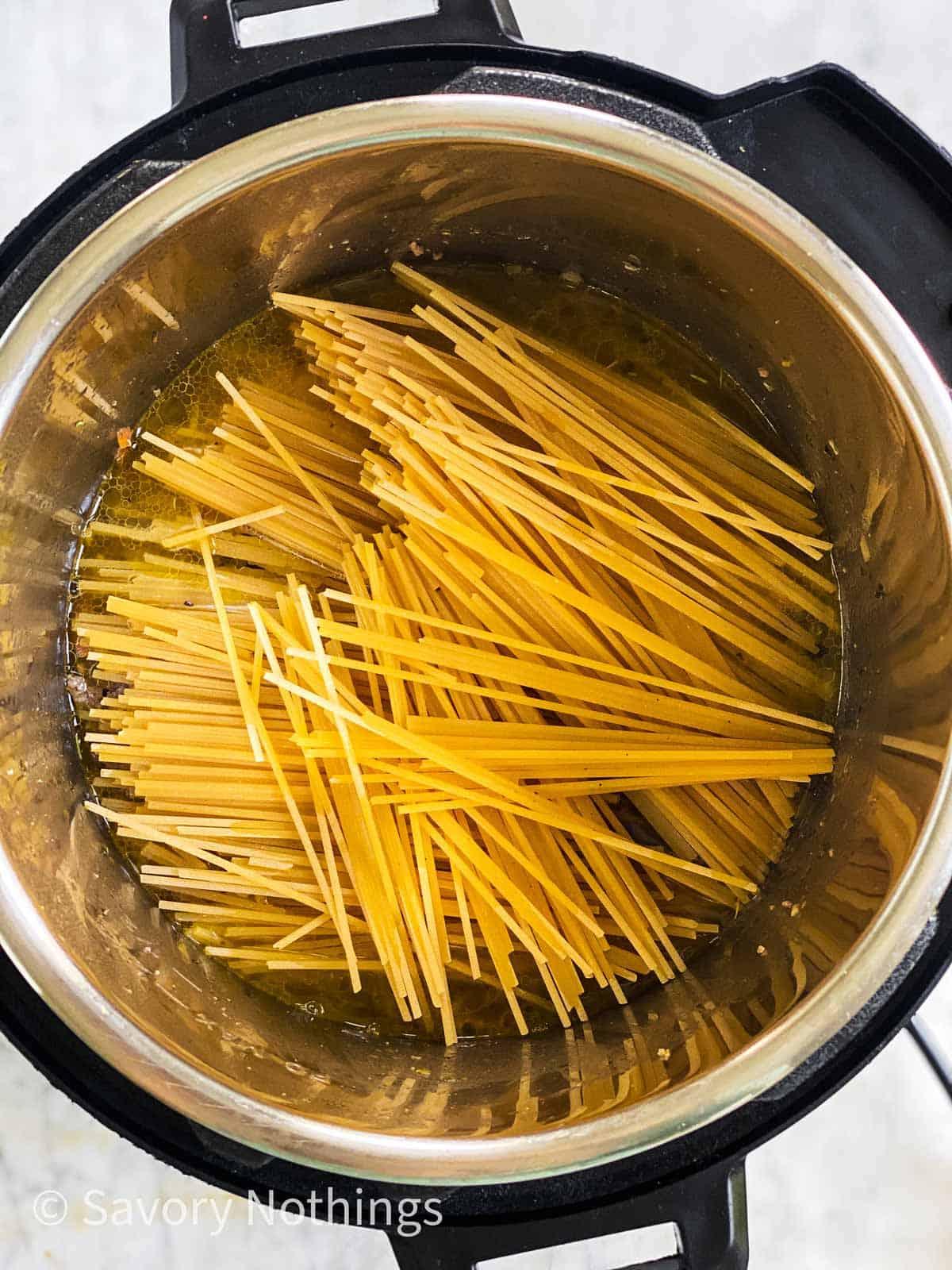 broken spaghetti in instant pot