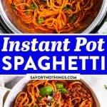 Instant Pot Spaghetti Pin 1