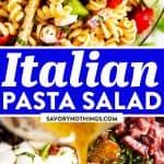 Italian Pasta Salad Recipe Image Pin 1