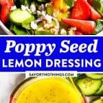 Lemon Poppy Seed Salad Dressing Pin 1