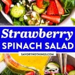 Strawberry Spinach Salad Pin 1