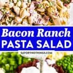 Bacon Ranch Pasta Salad Image Pin 2