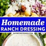 Homemade Ranch Salad Dressing Image Pin 1