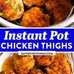 Instant Pot Chicken Thighs Pin 1
