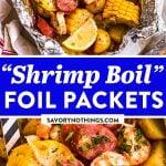 Shrimp Boil Foil Packets Image Pin 2