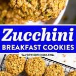 Zucchini Bread Breakfast Cookies Pin 1